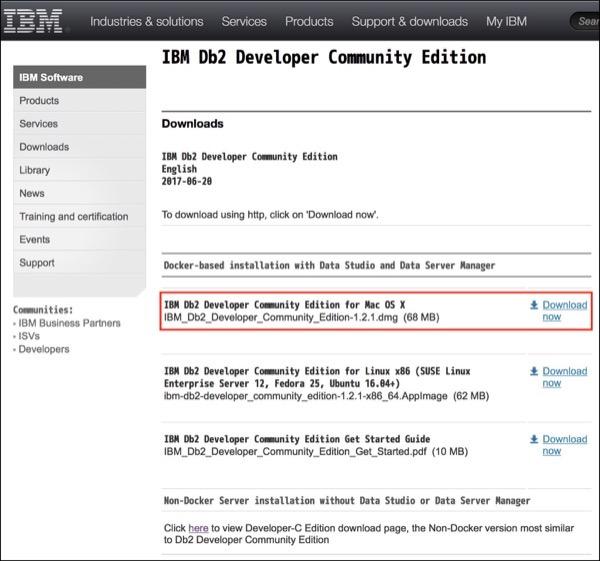 UJP - Db2 Developer-C Edition11 1 3 3をmacOS X 10 13 6(High Sierra